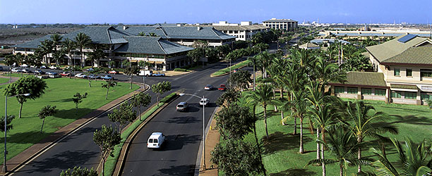 Aerial shot of The City of Kapolei