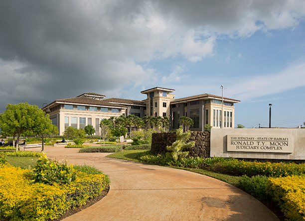 An exterior photograph of the Kapolei Judiciary Complex